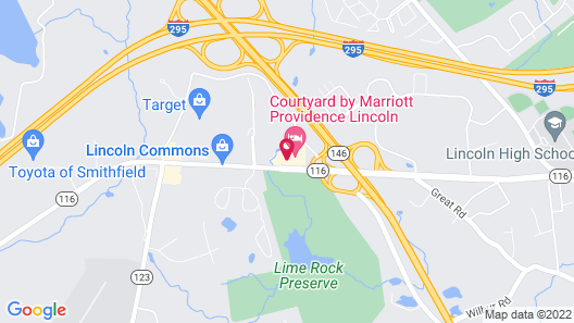 Courtyard by Marriott Providence Lincoln Map