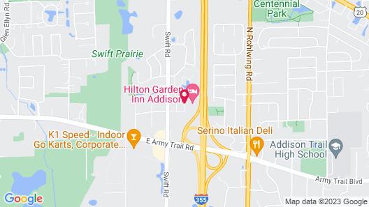 Hilton Garden Inn Addison Map