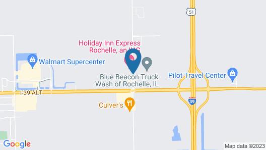 Holiday Inn Express Rochelle, an IHG Hotel Map