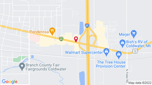 Best Western Plus Coldwater Hotel Map
