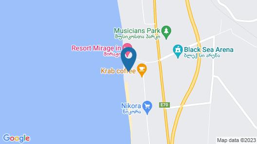 Aria Hotel Shekvetili Map