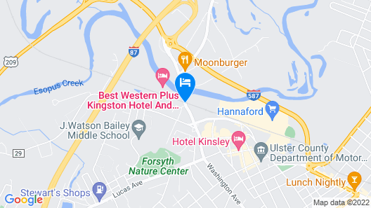 Best Western Plus Kingston Hotel And Conference Center Map