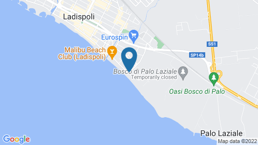 Hotel Alle Tamerici Map