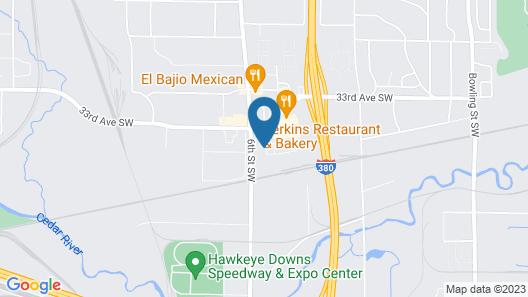 Ramada by Wyndham Cedar Rapids Map