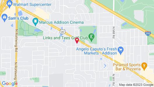 WoodSpring Suites Chicago Addison Map