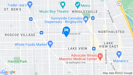 Chicago Guest House on Henderson Street Map