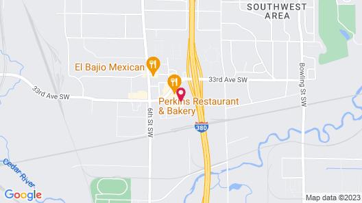 Motel 6 Cedar Rapids, IA Map