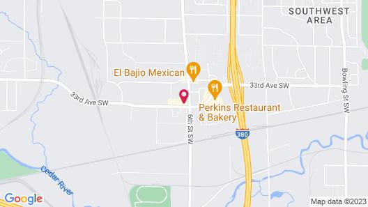 Motel 6 Cedar Rapids, IA - Airport Map