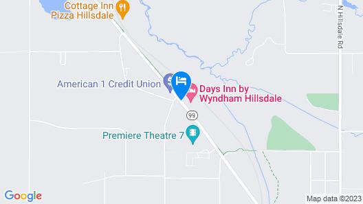 Days Inn by Wyndham Hillsdale Map
