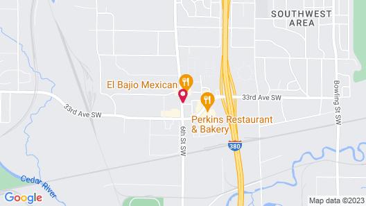 Hampton Inn - Cedar Rapids Map