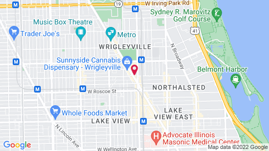 The Chicago Hotel Collection - Wrigleyville Map