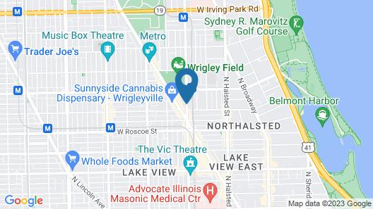 Wrigley Hostel Map