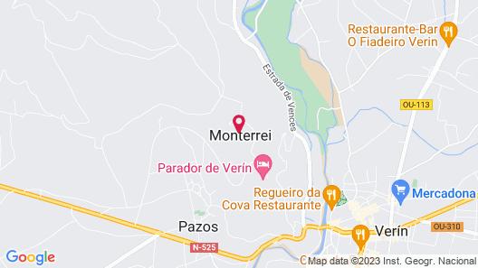 Parador Castillo De Monterrei Map