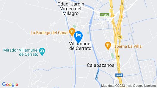 Lavish Villa in Villamuriel de Cerrato With Swimming Pool Map