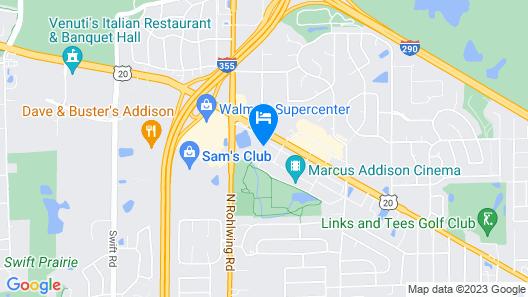 Hampton Inn & Suites Addison Map