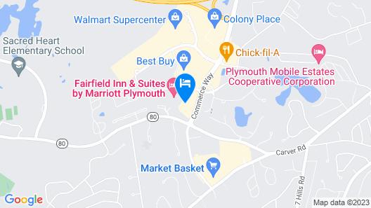 Hampton Inn & Suites Plymouth Map