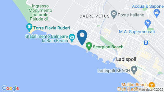 On the sea and on the Beach Map