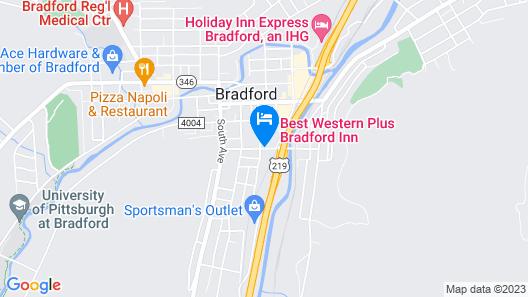 Comfort Inn Bradford Map