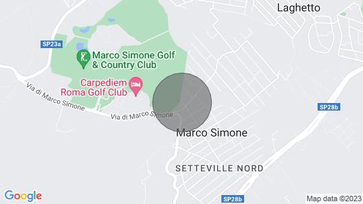 Villino il Geco 🦎 Marco Simone -golfkerho Map
