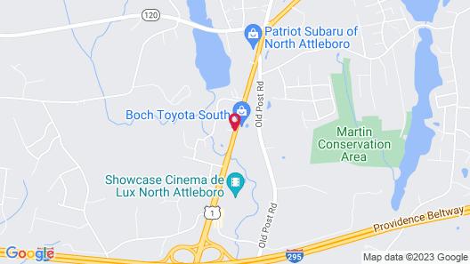 Best Western North Attleboro / Providence Beltway Map