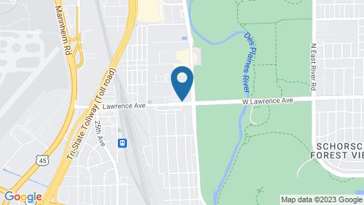 Motel 6 Schiller Park, IL - Chicago O'Hare Map