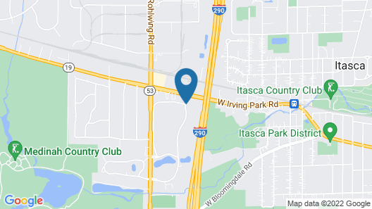Holiday Inn Chicago West - Itasca Map