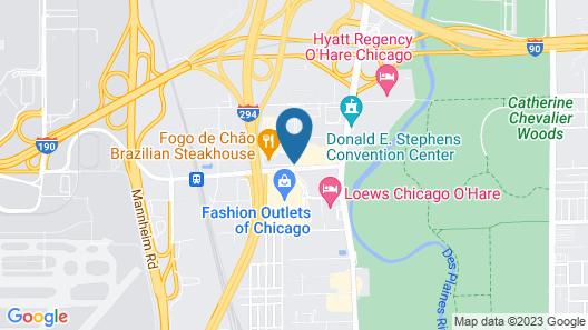 Aloft Chicago O'Hare Map