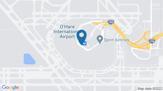 Hilton Chicago O'Hare Airport Map