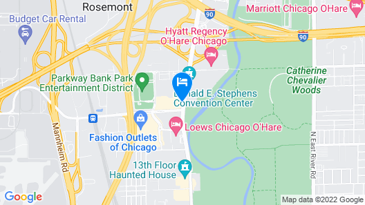 Crowne Plaza Hotel Chicago O'Hare, an IHG Hotel Map