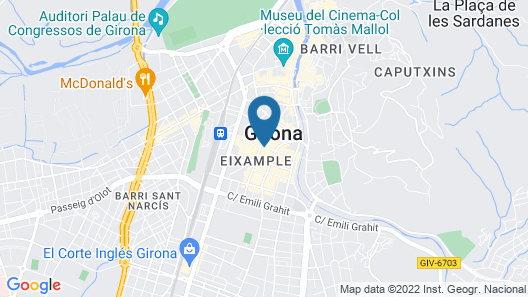Hotel Carlemany Girona Map