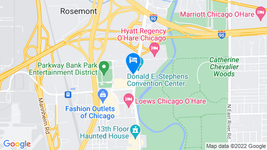 Embassy Suites - Chicago O'Hare - Rosemont Map