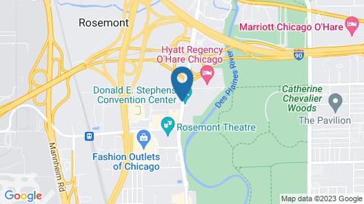 Hilton Rosemont Chicago O'Hare Map