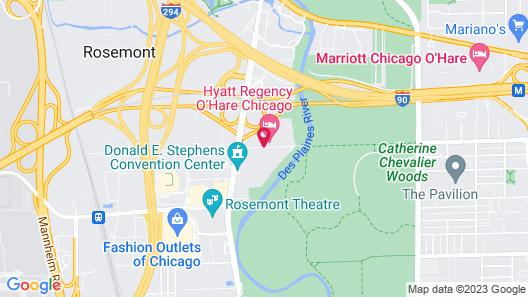 Hyatt Regency O'Hare Chicago Map