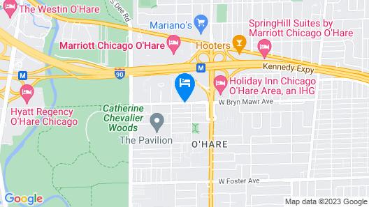 Renaissance Chicago O'Hare Suites Hotel Map