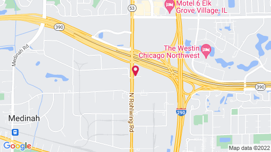 Extended Stay America Chicago - Itasca Map