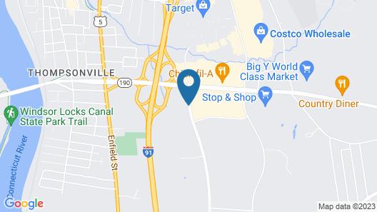 Hampton Inn Springfield South Enfield Map