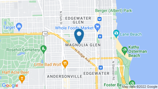House 5863- Chicago's Premier Bed and Breakfast Map