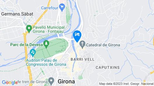 Hotel Museu Llegendes de Girona Map