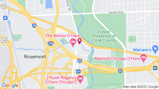Chicago Marriott Suites O'Hare Map