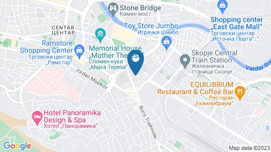 Get Inn Hostel Skopje Map
