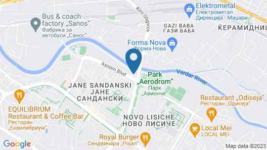 DoubleTree by Hilton Skopje Map