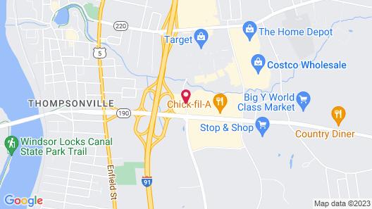 Motel 6 Enfield, CT - Hartford Map