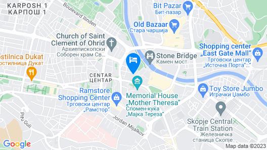 Hotel London B&B Map