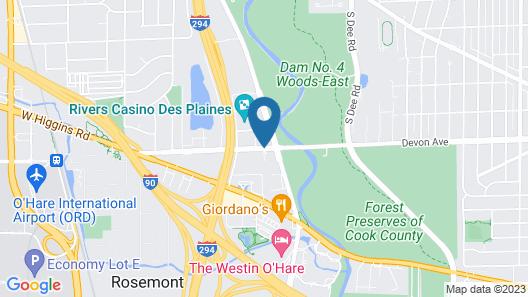 Hyatt Rosemont Near O'Hare Map