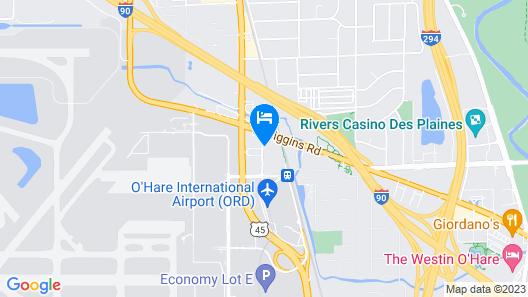 Sonesta Chicago O'Hare Airport Rosemont Map