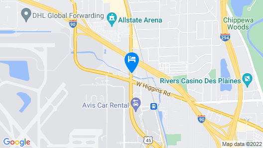 Holiday Inn Express & Suites Chicago O'Hare Airport Map