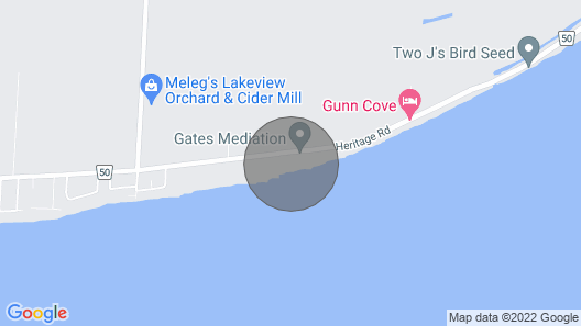 Premium Coach House... on the Shores of Lake Erie Map