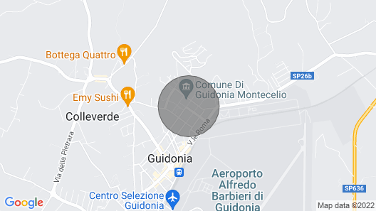 Vacation Home Torretta Serviana in Guidonia - 8 Persons, 4 Bedrooms Map