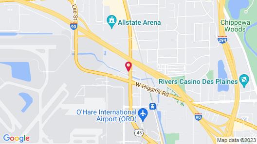 Edward Hotel Chicago Map