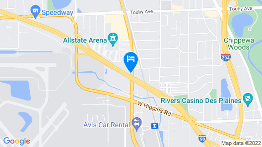 Hyatt Place Chicago/O'Hare Airport Map